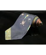 VINTAGE POLO Ralph Lauren silk tie golf clubs crest shield logo hunter - $27.59