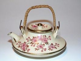 Antique Miniature Teapot KYOTO Japanese SATSUMA... - $93.10