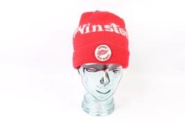 Vintage 80s Winston Tobacco Detroit Red Wings Hockey Winter Beanie Hat C... - $49.45