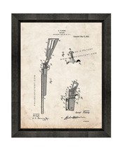 Shotgun Patent Print Old Look with Beveled Wood Frame - $24.95+