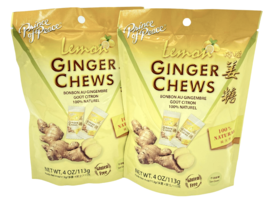 Prince of Peace Ginger Chews Candy with Lemon (100%Natural) 4 oz ( Pack ... - $9.75