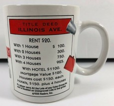Sherwood Brands MONOPOLY Game Boardwalk Illinois Ave Coffee Tea Mug Cup - $19.79