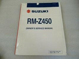 Suzuki 2006 RM-Z450 Owner's Service Manual P/N 99011-35G51-03A - $34.38