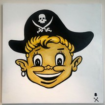 "Treasure Paintings JR Bissell: ""Loot Boy"" Pirate Gold Coins Gimme the Loot  - $1,450.00"