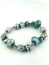 "Pandora Sterling Silver Charms Bracelet  14 Charms 7.5""inch Long - $271.25"