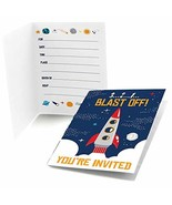Big Dot of Happiness Blast Off to Outer Space - Fill in Rocket Ship Baby... - $9.50