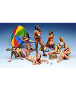 1:35 Hot Sexy 7 Girls On The Beach Model kit Unpainted assembly Collecti... - $42.99