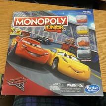 2015 Disney Pixar Cars 3 Monopoly Junior NEW Hasbro gaming Jr - $24.74