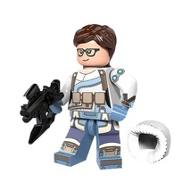 1 Pcs Super Hero Military Soldier Mei With Weapons Fit Lego Building Blo... - $6.99