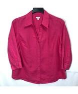 Talbots Woman Linen Button Front Shirt Womens Plus  Size 1X Summer Vacat... - $34.64