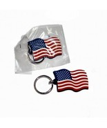American Flag USA Patriotic Flag Rubber Keychain / 72 ct - $53.28