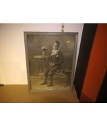 "Vintage Framed B&W Picture Of Young Boy's First Communion circa 1930 17""... - $12.32"