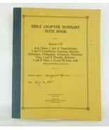 Antique Bible Chapther Résumé Note Livre Section VII Livret - $17.76