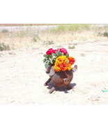 Helium tank rustic metal pig planter made from upcycled parts propane re... - $55.00