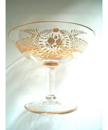 Antique Estate Gold Etched Champagne or Sherbert Glass Victorian Edwardian - $38.00