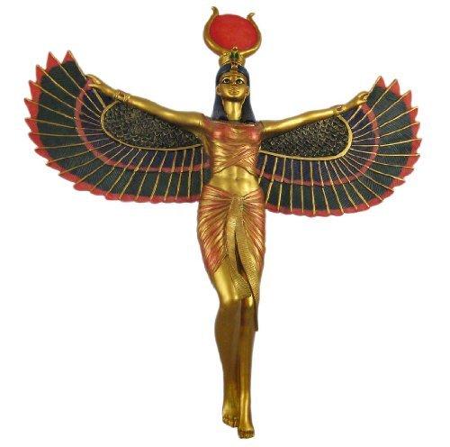 Winged Isis Egyptian Goddess of Motherhood and Magic Wall Hanging Deity
