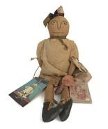1991 The Tattered Rabbit Farm Lucky Judy Primitive Folk Art Cloth Doll S... - $102.82