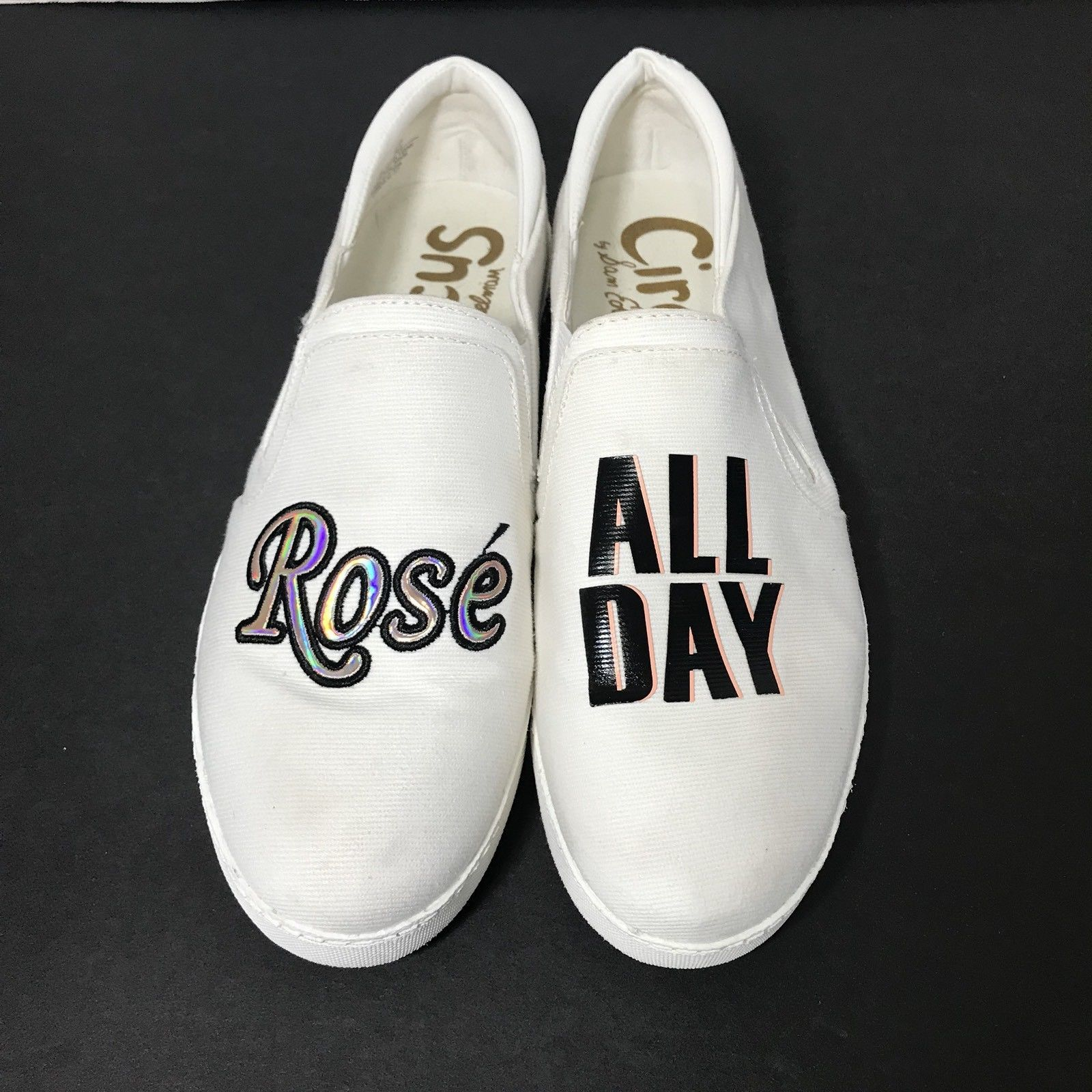 20b887ada Sam Edelman Circus Women s White Canvas Deck Shoes Size 8.5 Rose  All Day -   29.99