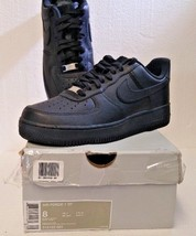 Nike Air Force 1 Men's Exclusive Leather Fashion Sneakers Black/Black 315122-001 - $88.22