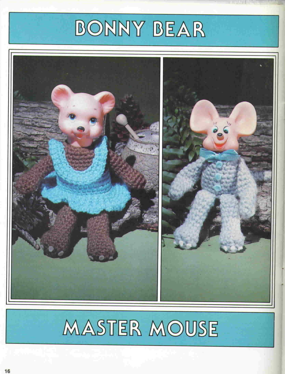Vintage Crocheted Animal Infants by Sue Penrod from Plaid Enterprises