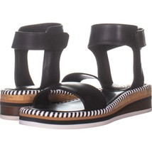 Vince Camuto Moirina Ankle Strap Sandals 651, Black, 5 US - $33.59