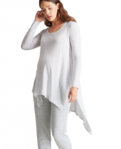 NWT Ingrid & Isabel Maternity Gray Handkerchief Tunic Top Shirt Soft SMALL - $23.26