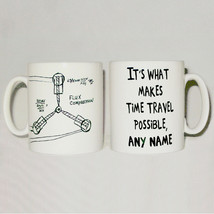 Flux Capacitor Drawing Mug Can Personalise ANY NAME Back To The Future G... - $11.40