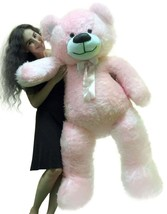 5 Foot American Made Giant Pink Teddy Bear 6o Inch Soft Made in USA - $127.11