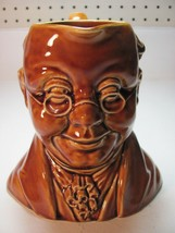 Sylvac Pottery England Mr. Pickwick Toby Character Jug #1452 Brown Glaze - $19.31