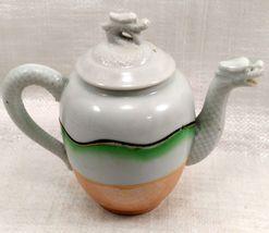 "Dragon Ware Tea Pot ""Mepoco Ware"" Japanese w/ creamer no lid image 6"