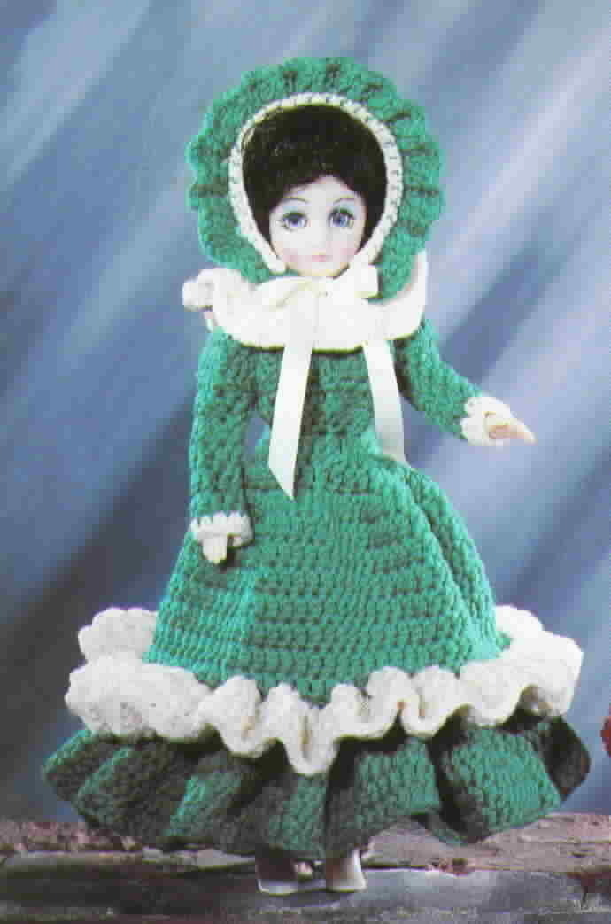 American School of Needlework Crochet Victorian Doll Costumes
