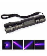 UV WF 501B Zoomable LED 365NM Ultra Violet Blacklight Flashlight Torch 1... - $14.80