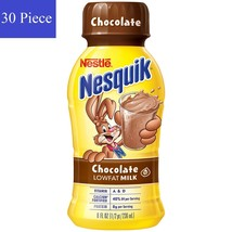 Nestle Nesquik Chocolate Lowfat Milk 30 bottles Vitamins A & D Coco 1.87... - $47.52