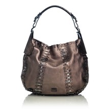 Vintage Burberry Brown Others Leather Embellished Hobo Bag Italy - $415.14
