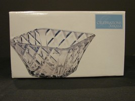 Mikasa Crystal 10 Inch Diamond Sparkle Square Bowl NIB - $30.99
