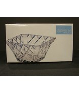 Mikasa Crystal 10 Inch Diamond Sparkle Square Bowl NIB - $30.99
