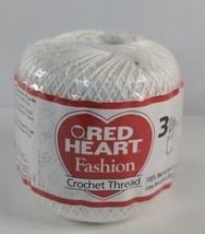Red Heart Fashion Crochet, Thread Size 3, White 125 yds cotton - $10.99