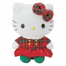 "Sanrio HELLO KITTY WINTER DRESS KT 12"" PLUSH Winter Plaid Dress Magic NE... - $49.00"