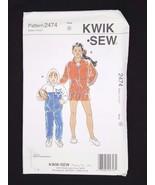 Kwik Sew Sewing Pattern Boys & Girls Hoodie Wind Breaker #2474 Sizes  4 ... - $6.95