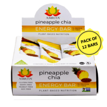 Pineapple Chia High Protein Bar, Pack of 12 Bars, Energy Snack - $24.00