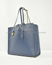 MARC By Marc Jacobs M0012669 The Grind East/West Leather Shopper Tote. Blue Sea - $299.00