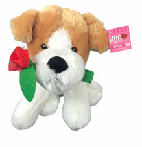 """Best Made Toys Hug Me Sitting Dog 10"""" Plush with Rose Stuffed Animal With Tags - $16.33"""