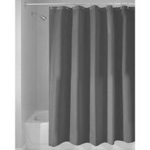 InterDesign Mildew-Free Water-Repellent Fabric Shower Curtain, Long, 72-... - $17.30
