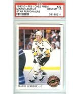1992 o pee chee premier mario lemieux pittsburgh penguins hockey graded ... - $29.99