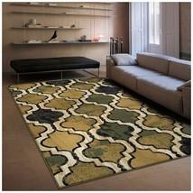 Modern Viking Green Geometric Trellis Design 5' x 8' Area Rug Water Repe... - $72.22