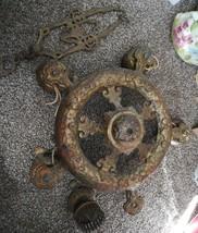 Antique Cast Iron Chandiler With Hanger - $44.55