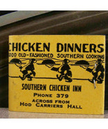 Vintage Matchbook M7 Southern Chicken Inn Made In Chicago Illinois Old F... - $53.99