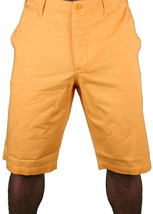 Hawke & Dumar Tab Detail Twill Rustic Orange Walk Summer Shorts HD1250503 NWT