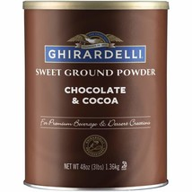 Ghirardelli Chocolate Sweet Ground Chocolate and Cocoa Beverage Mix, 48 oz Canis - $23.99
