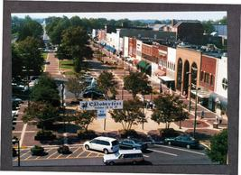 1998 Postcard Union Square Downtown Hickory North Carolina Oktoberfest - $4.99